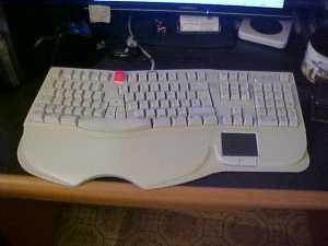 My Cherry ergonomic keyboard