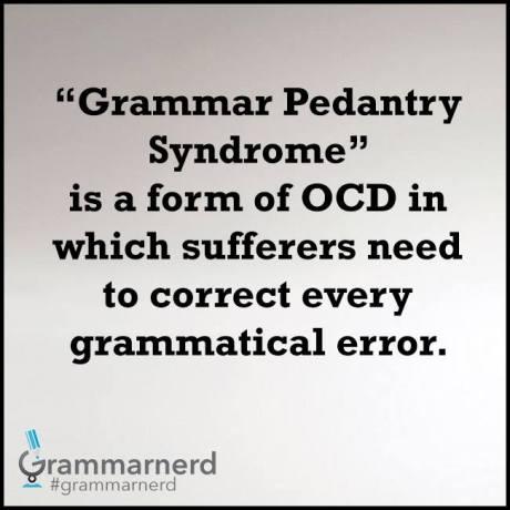 pedantry